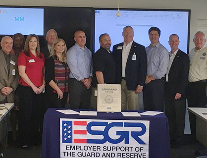 ITA Group team members sign a statement of support for Guard and Reserve members (ESGR)