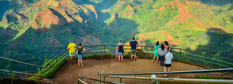 Touring a canyon in Hawaii on an experiential adventure travel trip