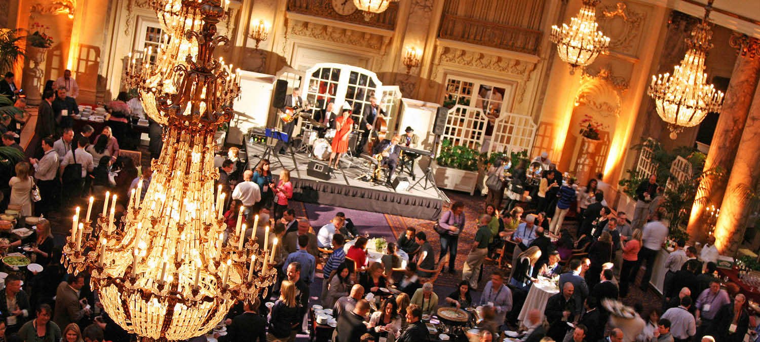 Experiential event design in a ballroom