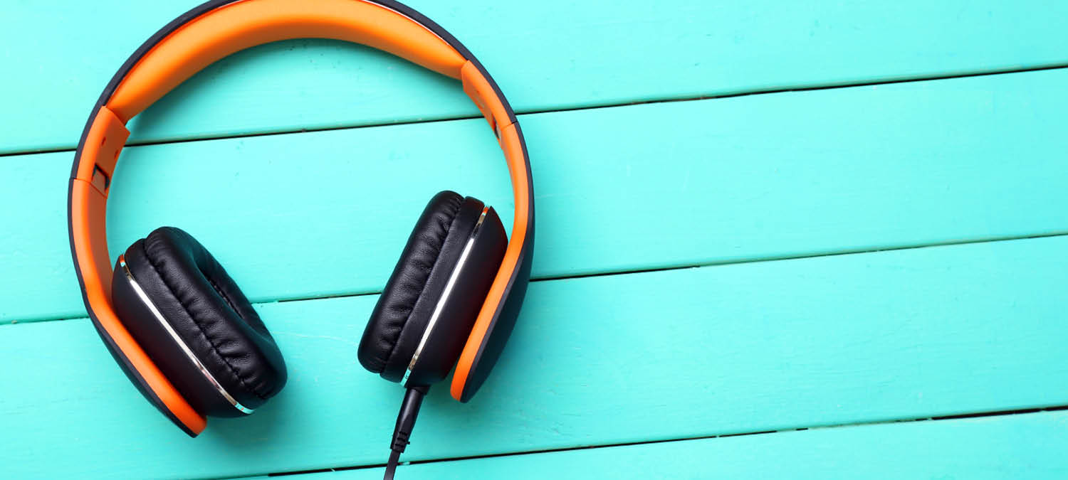non-monetary incentive reward headphones on a blue background