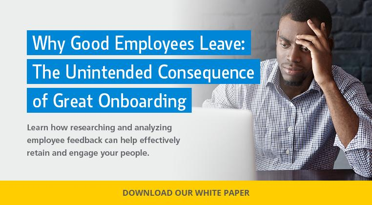 Why Good Employees Leave: The Unintended Consequence of Great Onboarding