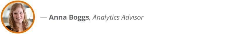 Anna Boggs, Data Analyst – Analytics Advisor