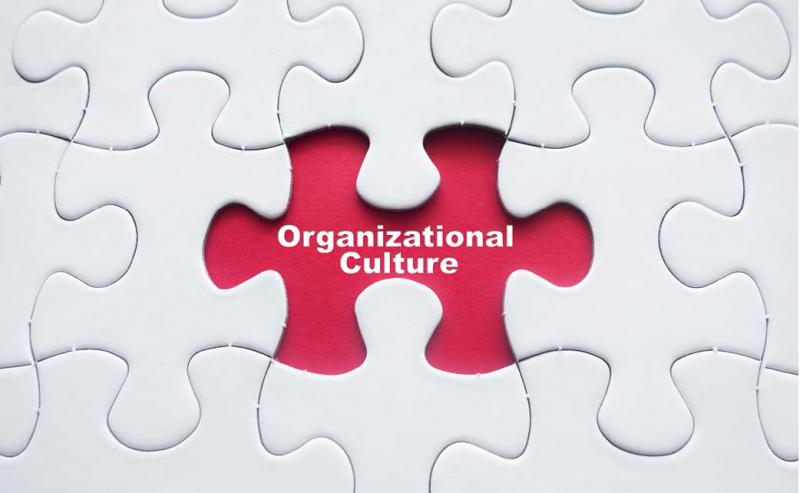 puzzle with organizational culture piece missing