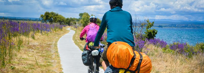 Biking to wineries in New Zealand on an incentive travel trip