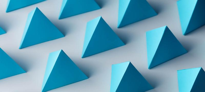 Blue triangles of the same size