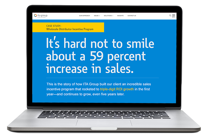 It's hard not to smile about a 59 percent increase in sales