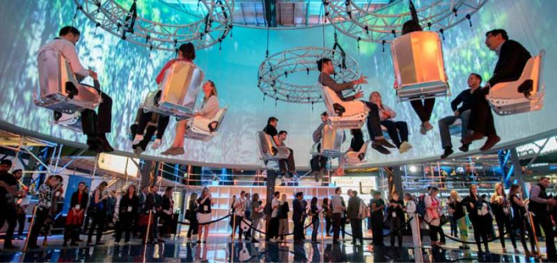 Event audience experiencing a creative event space