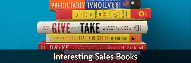 stack of sales books