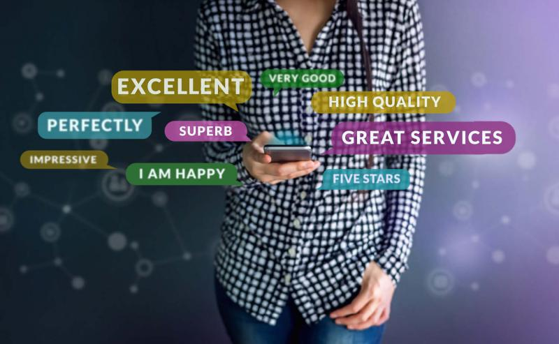 customer communicating positive experience