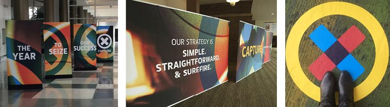 Signage at a sales conference