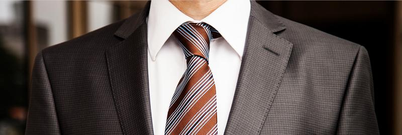 close-up of man in business suit