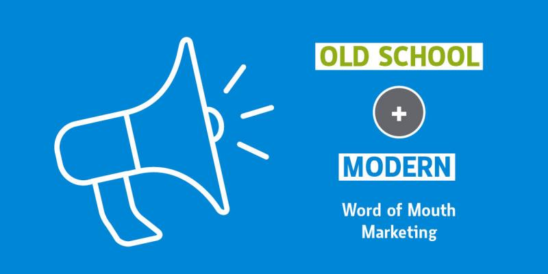 graphic showing word of mouth marketing