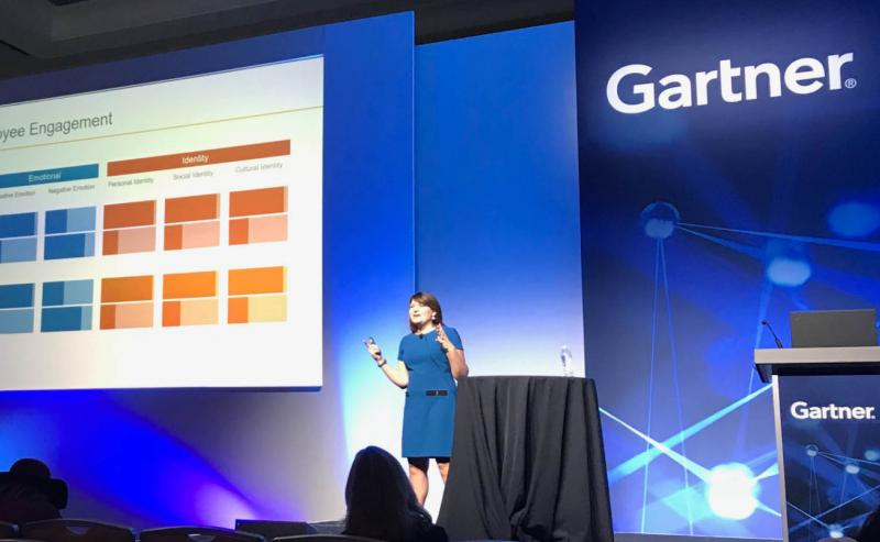 Christina Zurek speaking at Gartner ReimagineHR in 2018