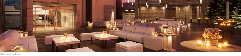 Aria Las Vegas outdoor event venue