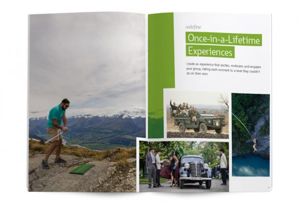 magazine spread featuring exciting incentive travel activities