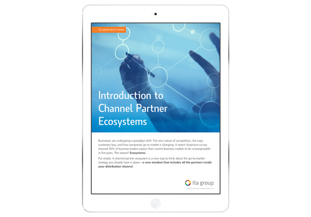 Intro to Channel Partner Ecosystems white paper on an iPad