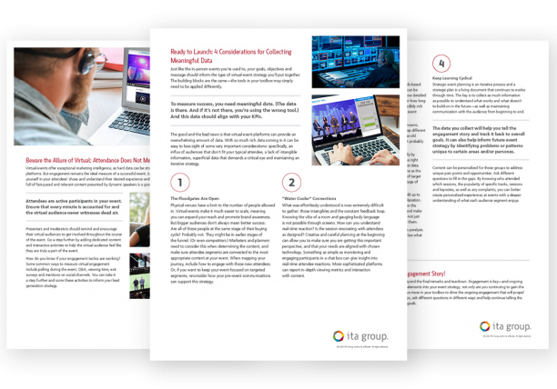 Pages of Measuring Virtual Event Success White Paper